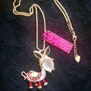 Betsey Johnson Mule Necklace